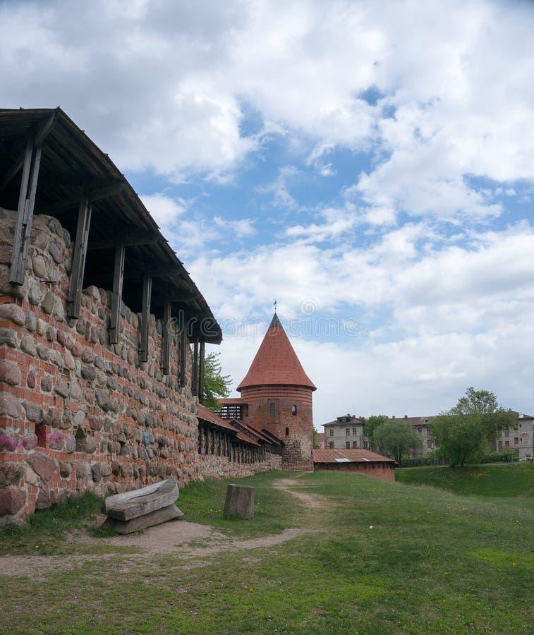 Kaunas castle. Tourist attraction in Kaunas, Lithuania royalty free stock photo