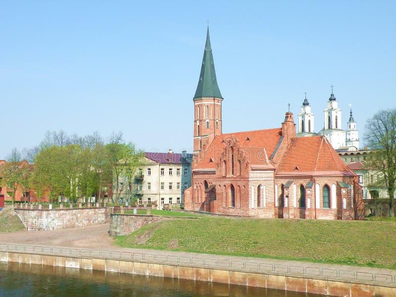 Kaunas city. View of old part Kaunas city, Lithuania stock images