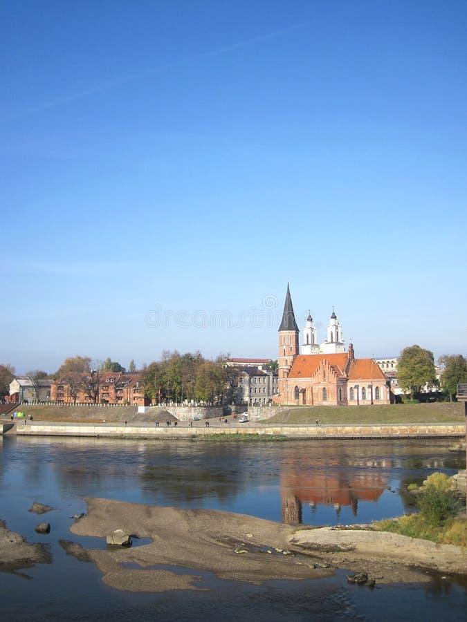 Kaunas city, Lithuania. View of old part Kaunas city, Lithuania stock photography