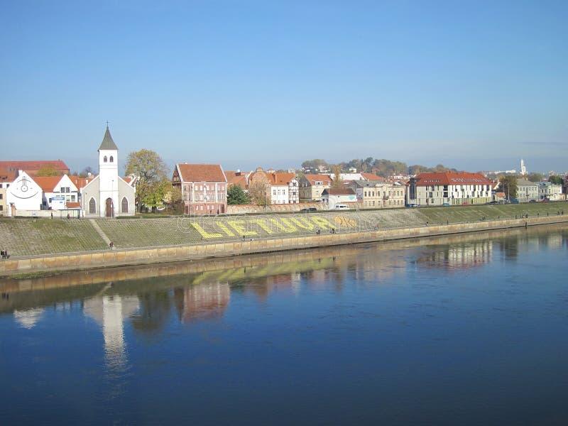 Kaunas city, Lithuania. View of Kaunas city, Lithuania royalty free stock photography