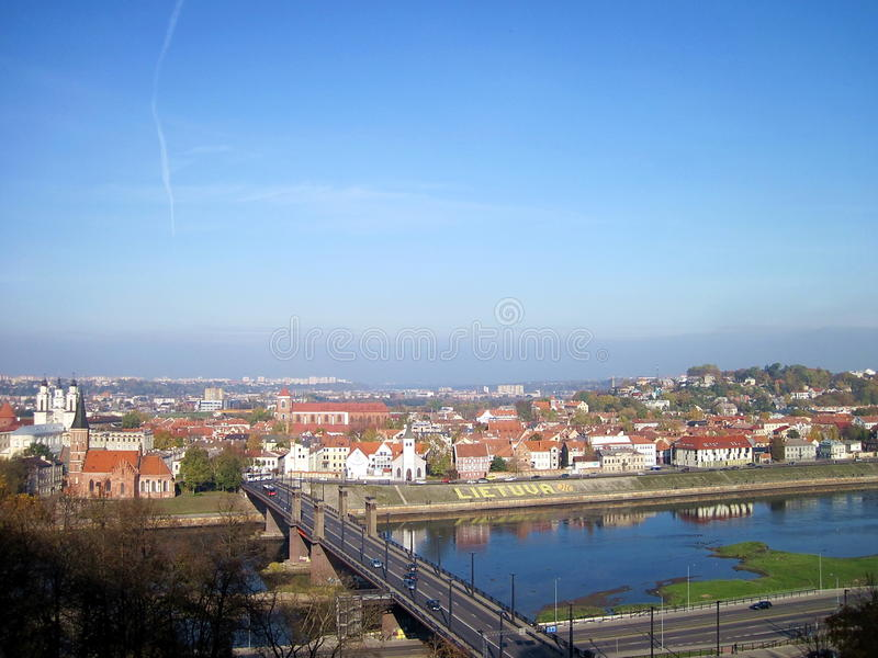 Kaunas city, Lithuania. View of Kaunas city, Lithuania stock photo