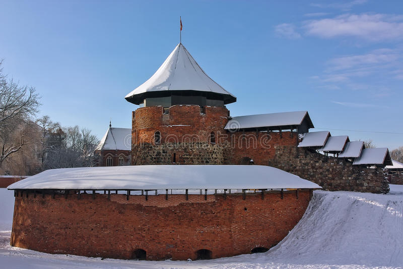 Kaunas kasztel, Lithuania obraz royalty free