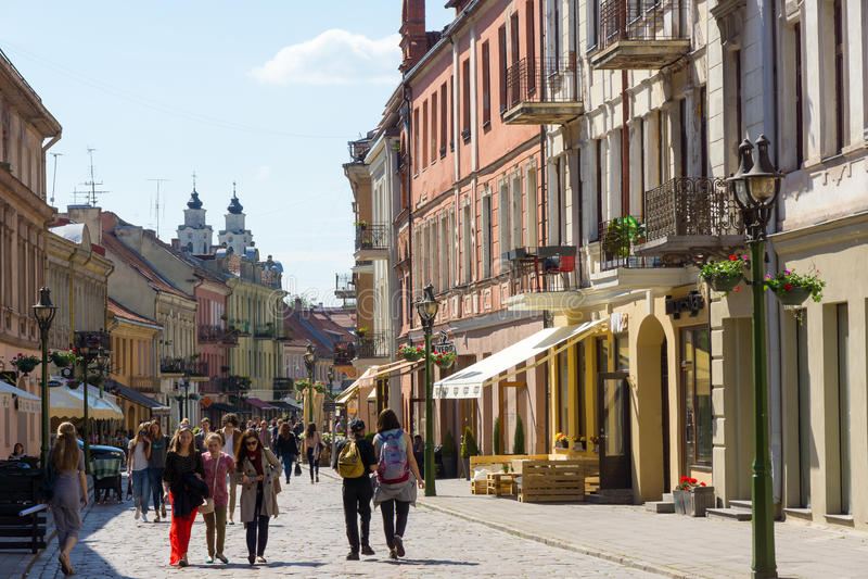 Kaunas Litauen royaltyfri fotografi
