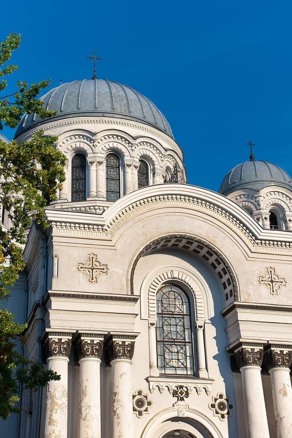 Kaunas Litauen: Domkyrka av St Michael ärkeängeln royaltyfri foto