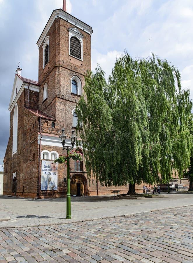 Kaunas, lithuania, Europa, catedral fotografia de stock