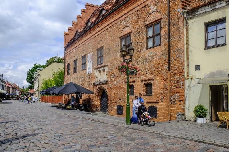 Kaunas, Lithuania, Europe stary miasteczko zdjęcia stock