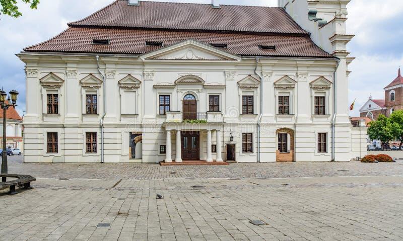 Kaunas, Lithuania, Europe, urzędu miasta kwadrat fotografia stock