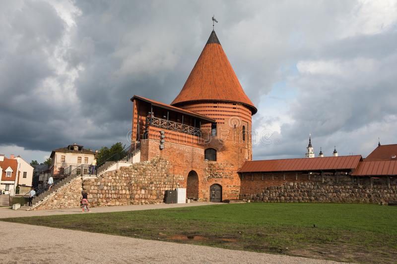 Kaunas Castle. Kaunas, Lithuania - July 14, 2018: Kaunas Castle, built during the mid-14th century, in the Gothic style royalty free stock photography