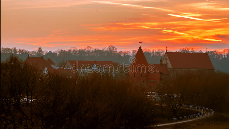 Kaunas (Lithuania) kasztel obrazy stock