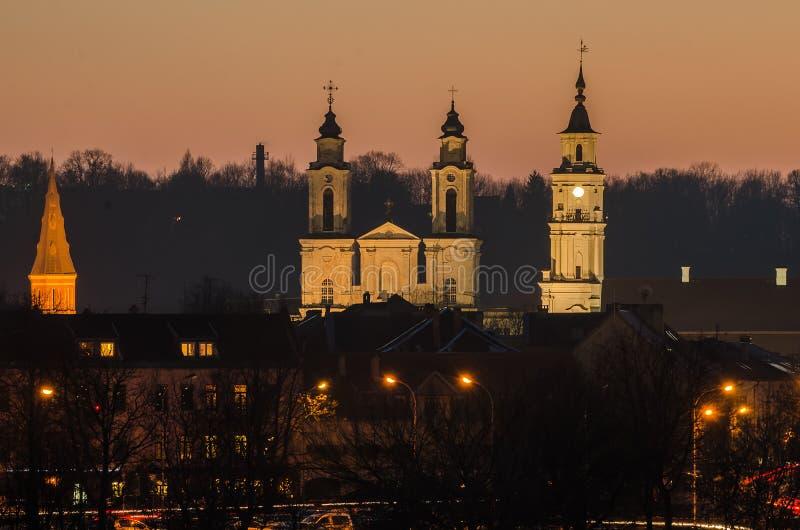 Kaunas (Lithuania) Stary miasteczko zdjęcie royalty free