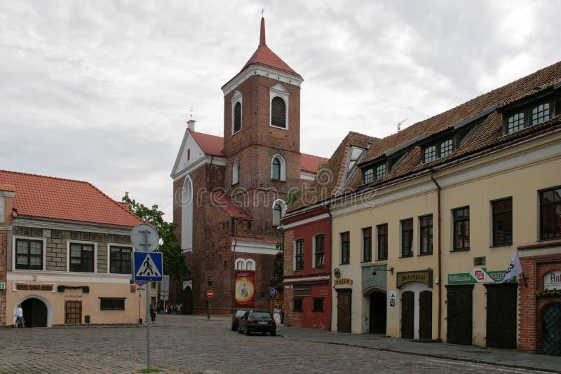 Kaunas, Lithuanie - vieille ville photographie stock