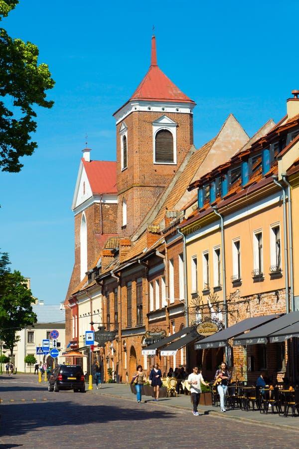 Download Kaunas, Lituania fotografia editoriale. Immagine di architettura - 56878452