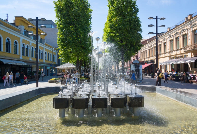 Download Kaunas, Lituania fotografia stock editoriale. Immagine di lithuania - 56879103