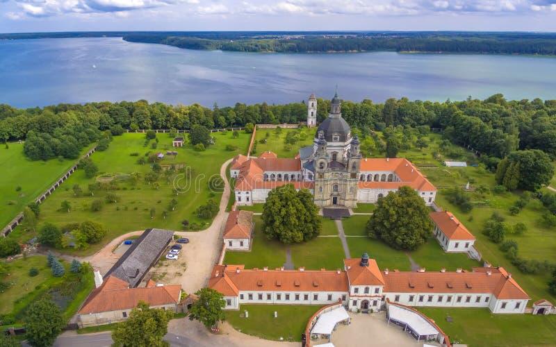 Kaunas, Lituania: Monastero e chiesa di Pazaislis fotografia stock libera da diritti