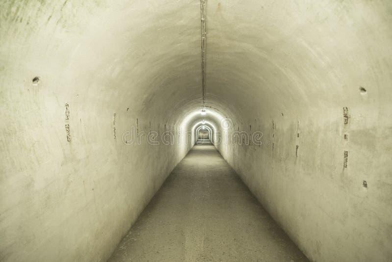 Kaunas Ninth Fort. The tunnels at Kaunas Ninth Fort royalty free stock images