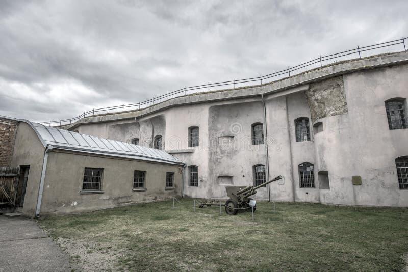 Kaunas Ninth Fort. The yard at Kaunas Ninth Fort royalty free stock image