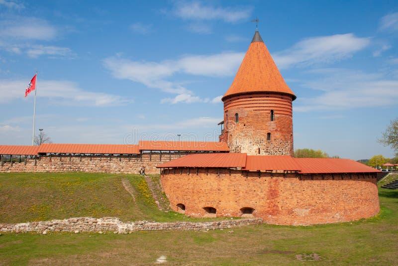 Kaunas Roszuje, średniowieczny kasztel w Kaunas, Lithuania fotografia stock