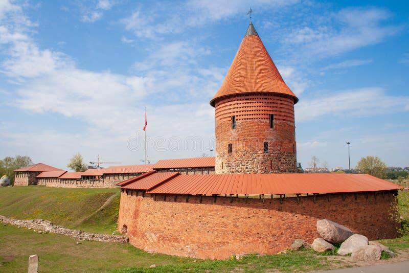 Kaunas Roszuje, średniowieczny kasztel w Kaunas, Lithuania fotografia royalty free
