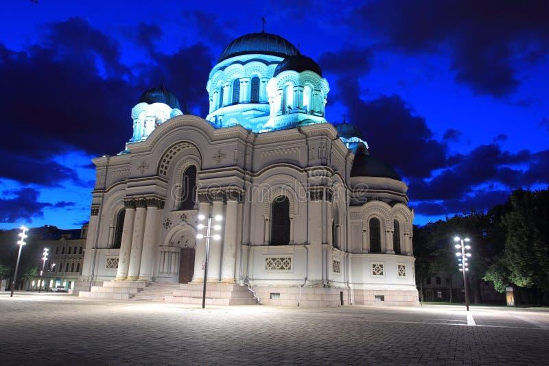 Kaunas. The St. Michael the Archangel Church in Kaunas, Lithuania stock photography