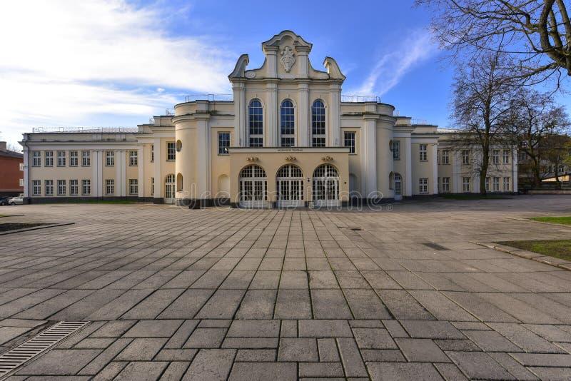 Kaunas state musical theatre Lithuania. Facade of Kaunas state musical theatre. Lithuania stock image
