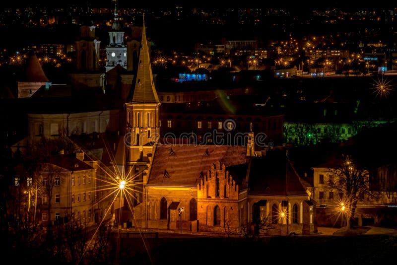 Kaunas Vytautas wielki kościół zdjęcie royalty free