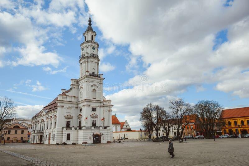 KaunasRathaus, Litauen lizenzfreie stockbilder