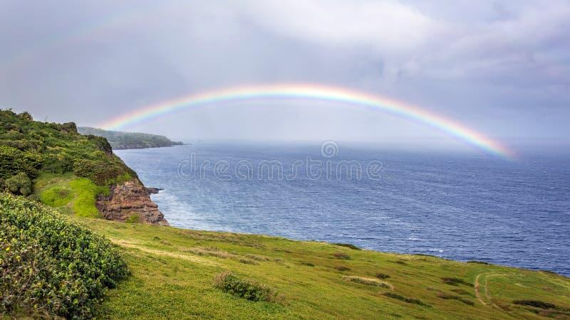 Kaupo Maui Rainbow royalty free stock image