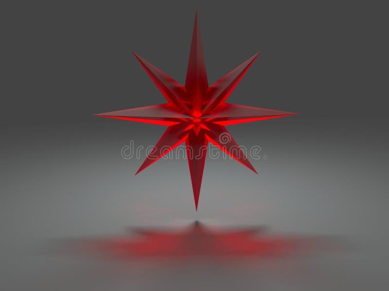 kaustyczni osiem wskazująca skutek gwiazda ilustracja wektor