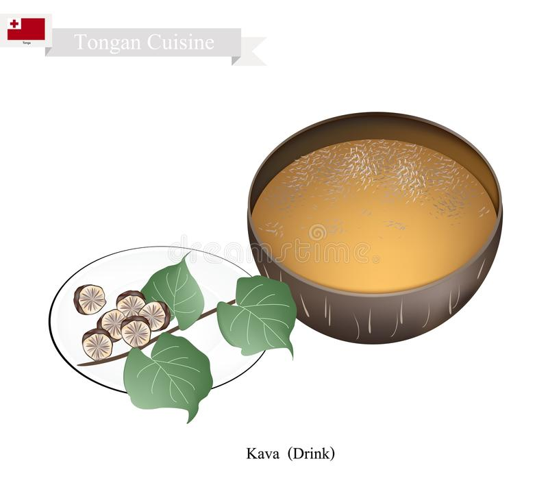 Kava Drink Or Traditional Vanuatu Herbal Beverage Stock