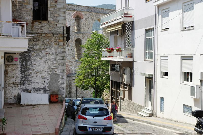 Kavala, East Macedonia and Thrace, Greece. Kavala, Greece, June 16, 2017: city in northern Greece, in the Macedonia-Thrace region, located on the Aegean Sea.The royalty free stock photo