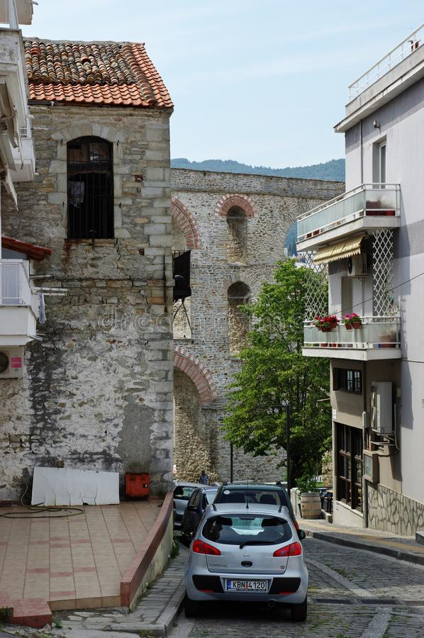 Kavala, East Macedonia and Thrace, Greece. Kavala, Greece, June 16, 2017: city in northern Greece, in the Macedonia-Thrace region, located on the Aegean Sea. The stock photo