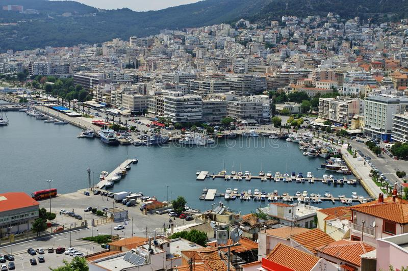 Kavala, East Macedonia and Thrace, Greece. Kavala, Greece, June 16, 2017: city in northern Greece, in the Macedonia-Thrace region, located on the Aegean Sea. Top stock photo