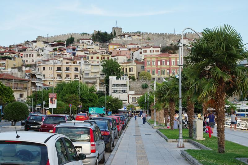 Kavala, East Macedonia and Thrace, Greece. Kavala, Greece, June 16, 2017: city in northern Greece, in the Macedonia-Thrace region, located on the Aegean Sea royalty free stock photos