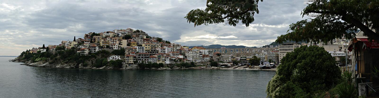 Kavala-Panorama stockfotos