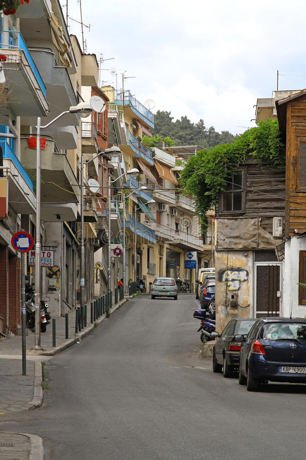 Kavala street royalty free stock photos