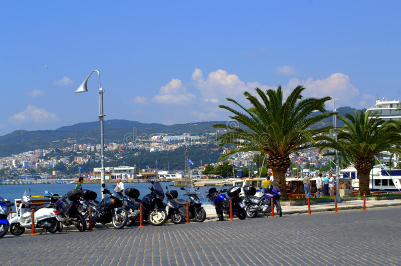Kavala street view ,Greece stock photos