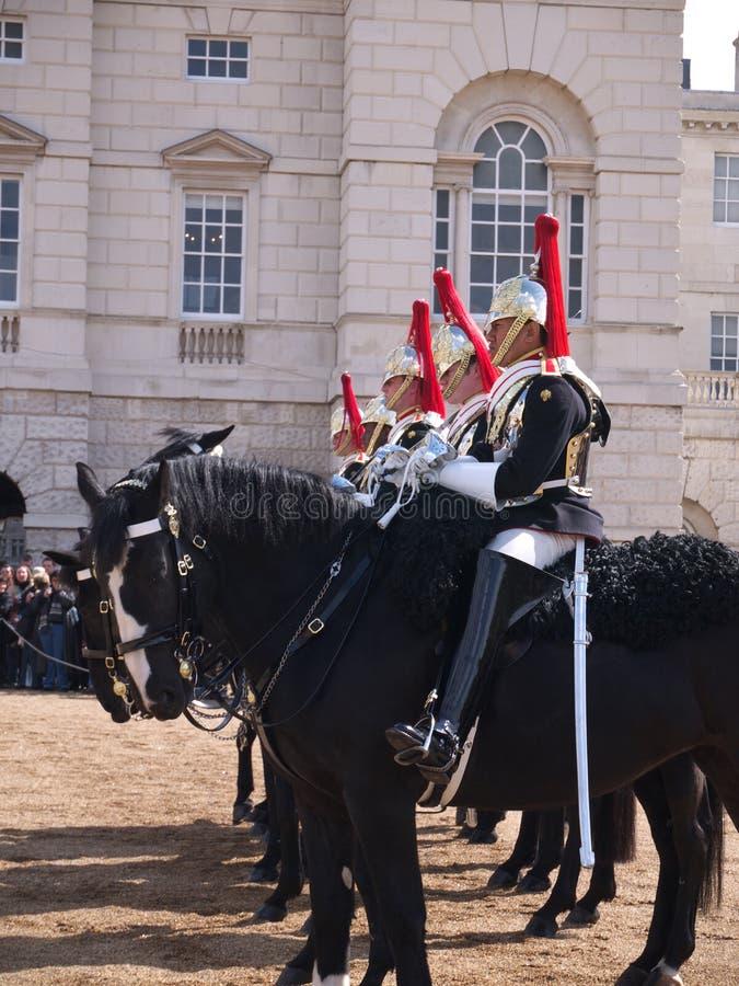 Kavalleri skydd hästen som hushållet ståtar