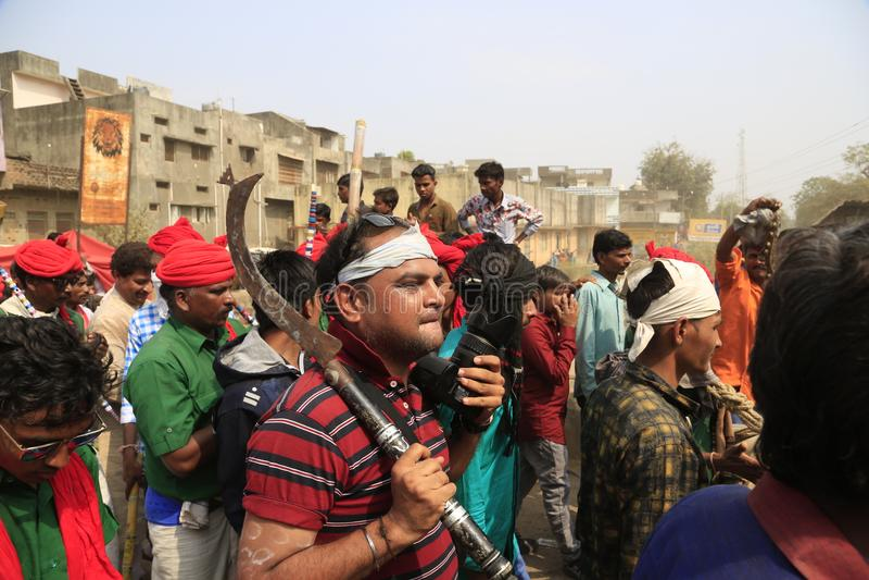 KAVANT GER ANGEMESSEN nahe Chhota Udepur um 120 kms von BARODA stockbilder