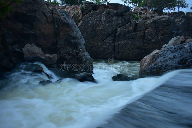 Kaveririvier in Dharmapuri stock afbeeldingen