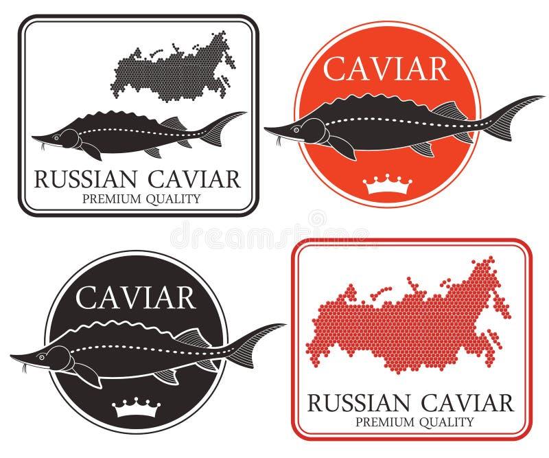 kaviar stock illustrationer