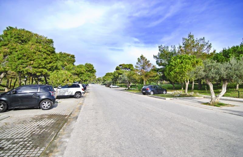Kavouri area Vouliagmeni in Athens Greece. Expensive area in Attica Greece royalty free stock photo
