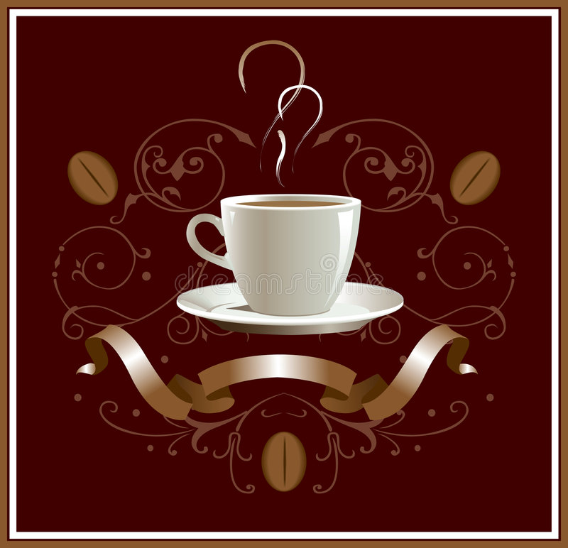 kawę royalty ilustracja