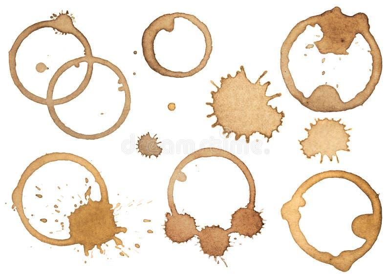 Kaw splatters i plamy ilustracji