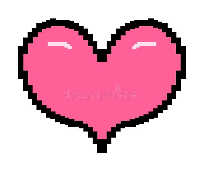 8 kawałków stylowy różowy serce ilustracji