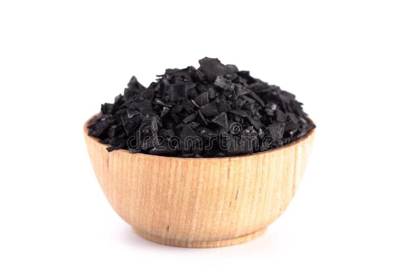 Kawałki Aktywowany węgiel drzewny Cudowna substancja z Wiele Bajecznie Używa zdjęcia royalty free