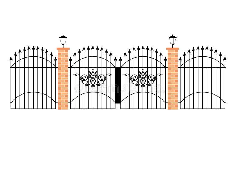 kawał żelaza eleganckich bramy marzenie royalty ilustracja
