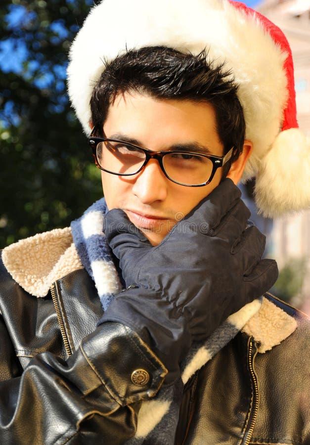 kawał chłopa Santa starannie zdjęcia royalty free