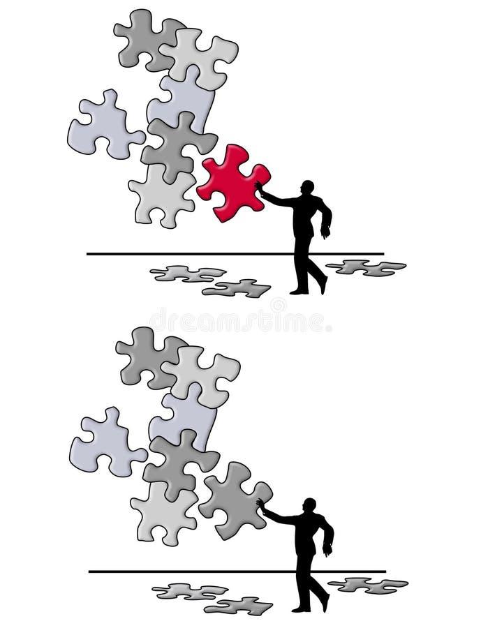 kawałek łamigłówki rozwiązać problem royalty ilustracja