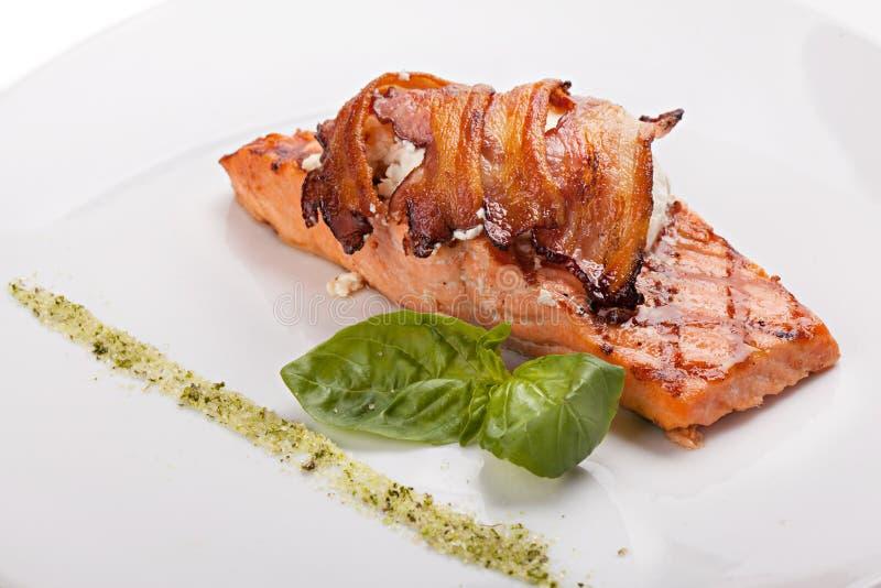 Kawałek łososiowy stek obraz stock