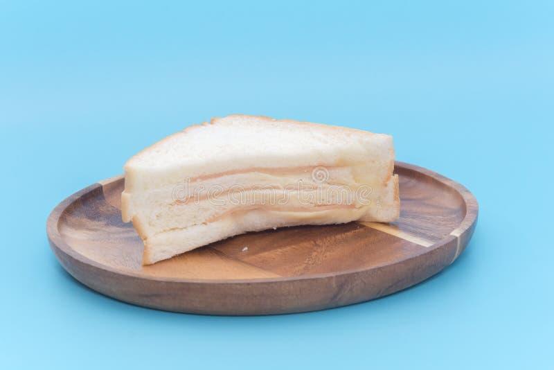 Kawałek baleron kanapka obraz royalty free